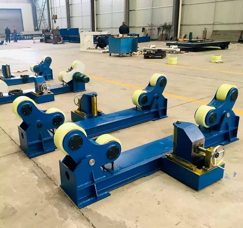 Anti-channeling horizontal pipe welding rollers