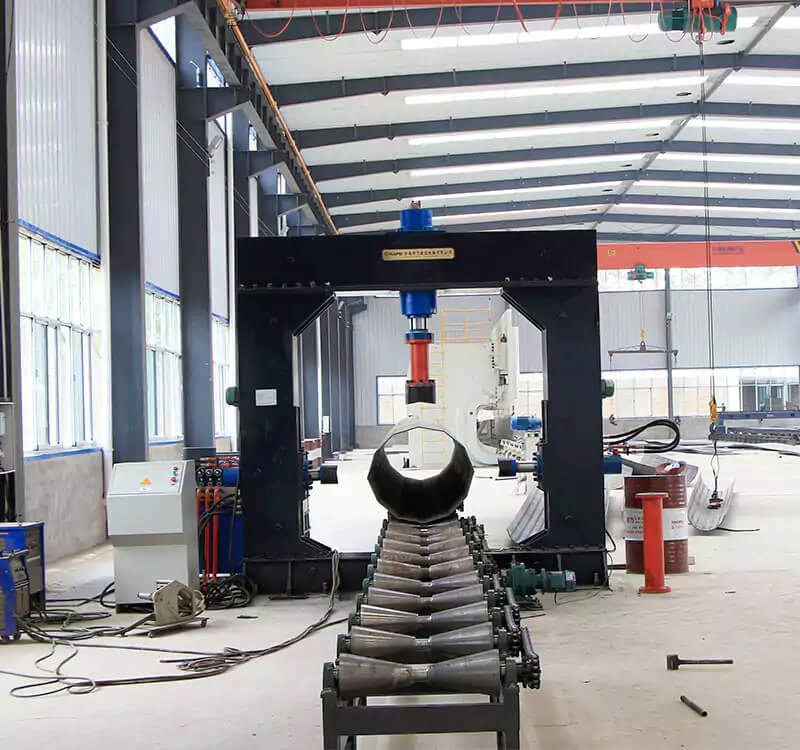Gantry tower rod hydraulic stitching machine