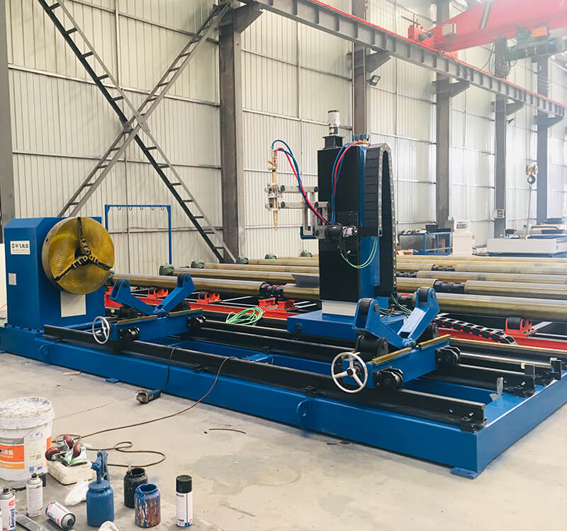 CNC plasma pipe profile cutting and beveling machine